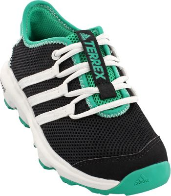 adidas outdoor Kids Terrex Climacool Voyager Shoe 4 (US Kid's) - Black/Chalk White/Core Green - adidas outdoor Men's Footwear 10565165
