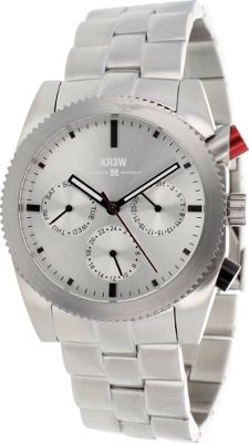 Kr3w Active Men's Red Rum Watch Silver - Kr3w Active Watches