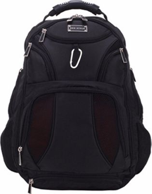 ECO STYLE Jet Set Smart Backpack Checkpoint Friendly Black - ECO STYLE Travel Backpacks