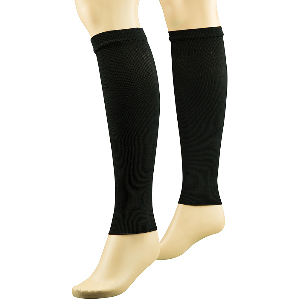 Travelon Unisex Compression Leg Sleeves M - Black - Travelon Mens Legwear/Socks - Apparel & Footwear, Men's Legwear/Socks