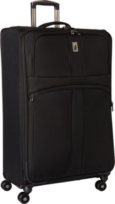 London Fog Wellington 360 Ultra-Lightweight 29 inch Expandable 8-Wheel Spinner Black - London Fog Large Rolling Luggage