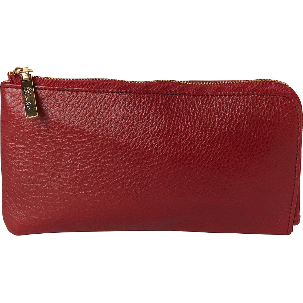 Buxton Florence L-Zip Red - Buxton Womens Wallets - Women's SLG, Women's Wallets