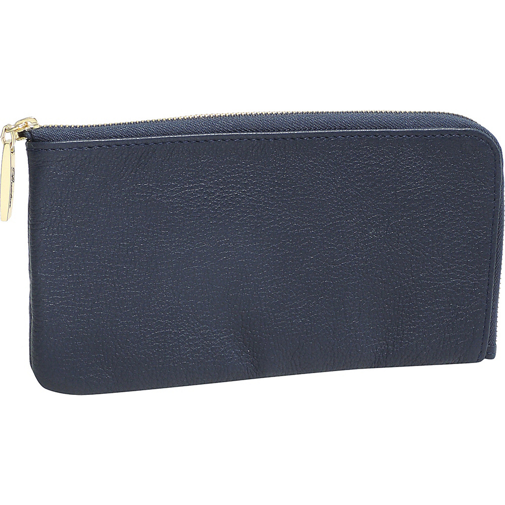 Buxton Florence L-Zip Blue - Buxton Womens Wallets - Women's SLG, Women's Wallets