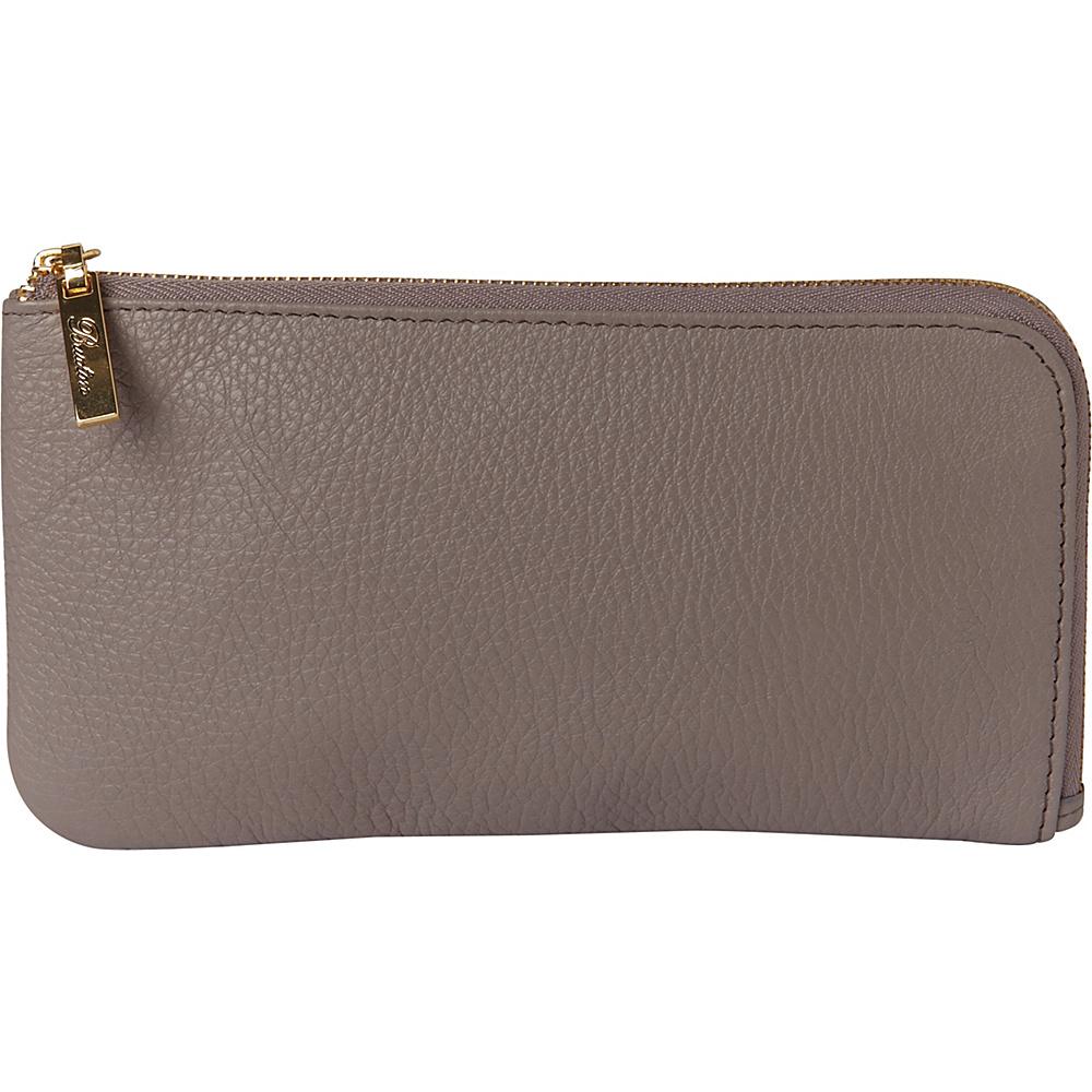 Buxton Florence L-Zip Medium Grey - Buxton Womens Wallets - Women's SLG, Women's Wallets