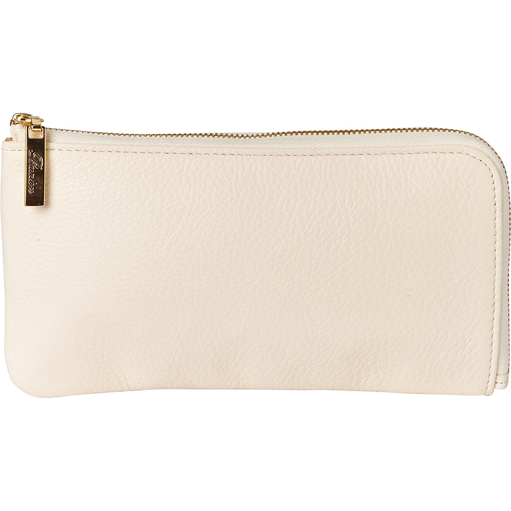 Buxton Florence L-Zip Natural Beige - Buxton Womens Wallets - Women's SLG, Women's Wallets