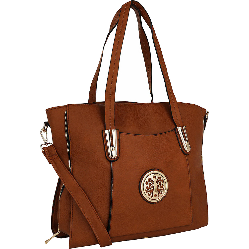MKF Collection Chloe Shoulder Bag Brown - MKF Collection Manmade Handbags - Handbags, Manmade Handbags