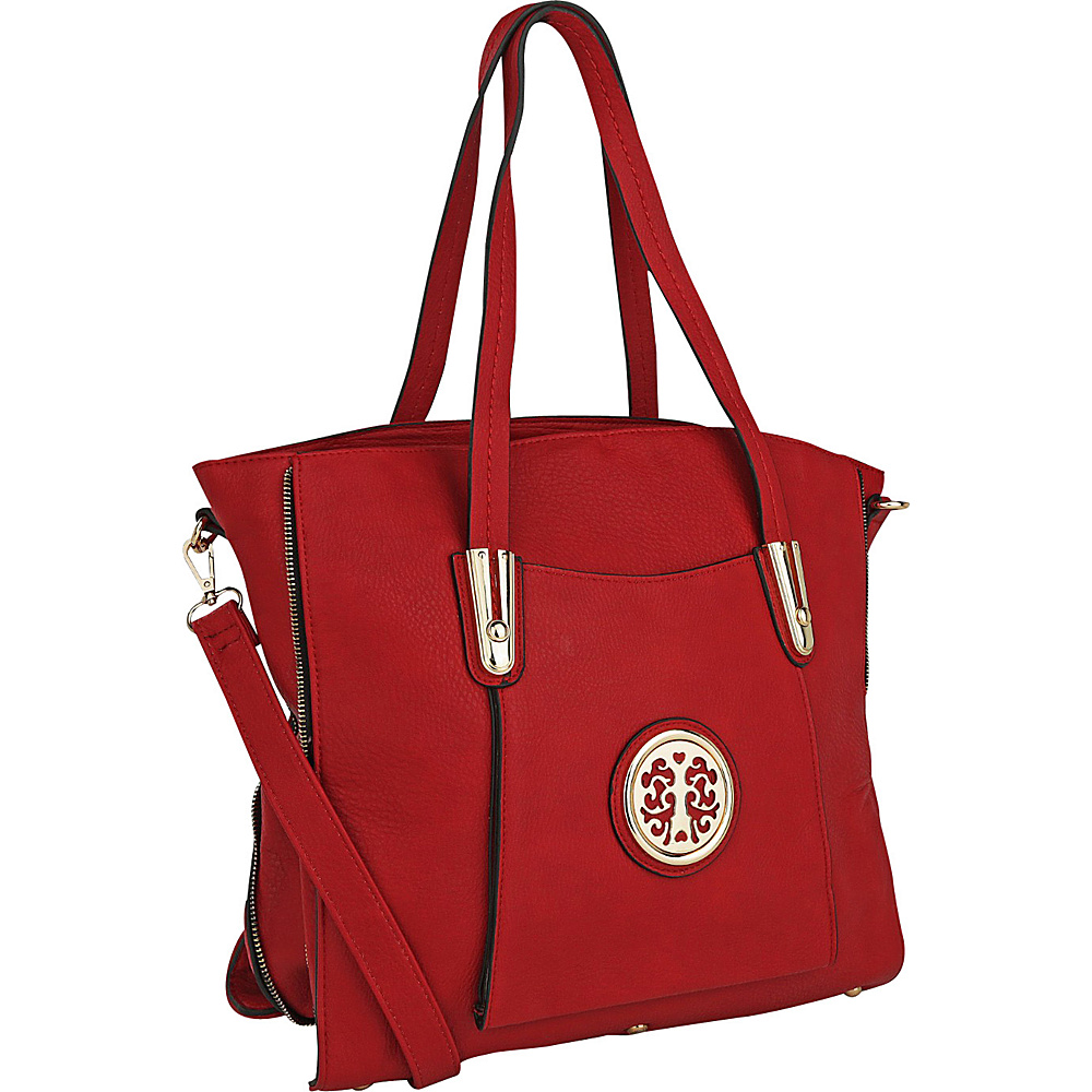 MKF Collection by Mia K. Farrow Chloe Shoulder Bag Red - MKF Collection by Mia K. Farrow Manmade Handbags - Handbags, Manmade Handbags