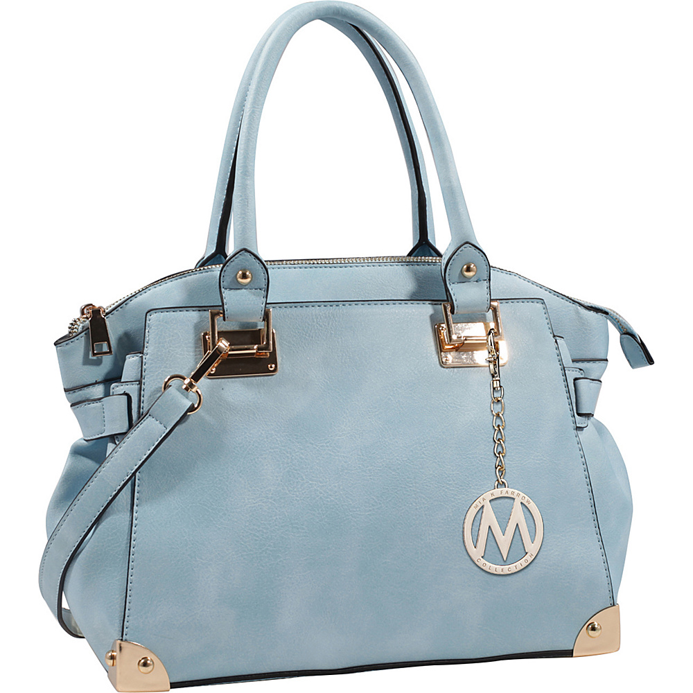 MKF Collection Mior Tote with Shoulder Strap Light Blue - MKF Collection Manmade Handbags - Handbags, Manmade Handbags