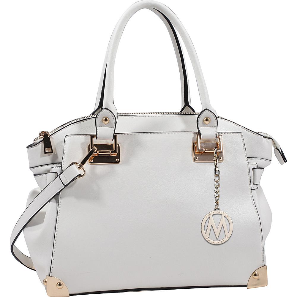 MKF Collection Mior Tote with Shoulder Strap White - MKF Collection Manmade Handbags - Handbags, Manmade Handbags