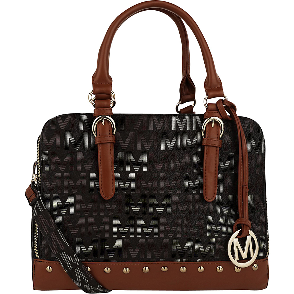 MKF Collection by Mia K. Farrow Fancy Marie M Signature Tote Brown - MKF Collection by Mia K. Farrow Manmade Handbags - Handbags, Manmade Handbags
