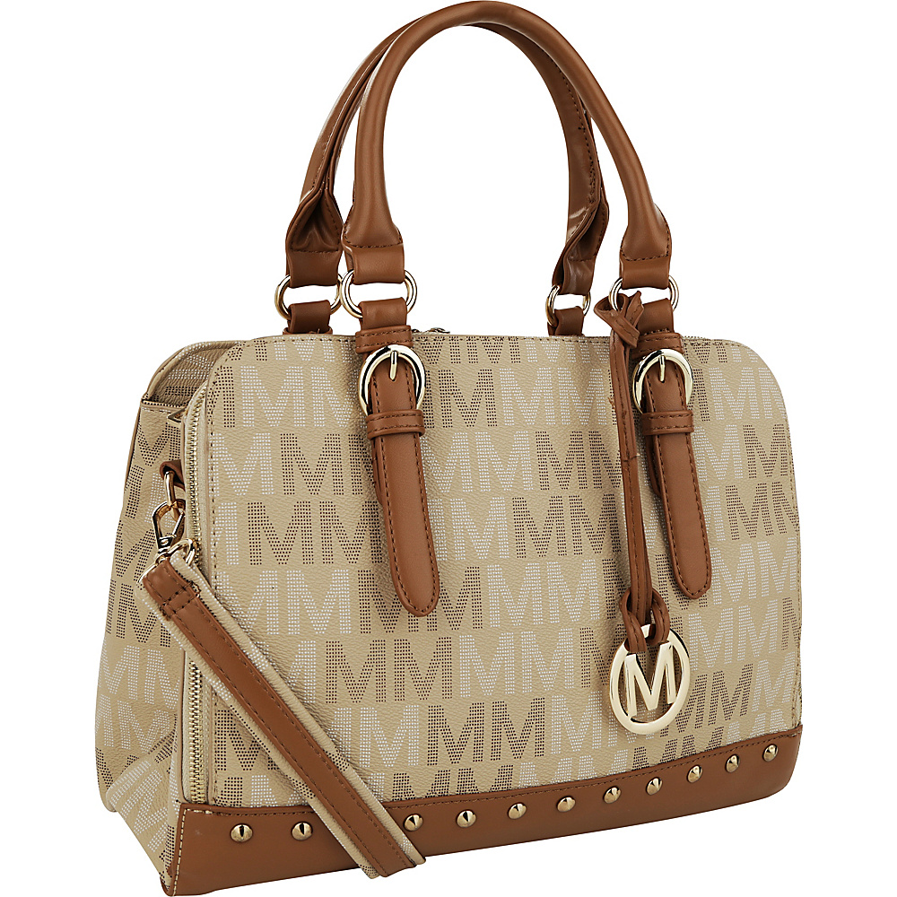 MKF Collection by Mia K. Farrow Fancy Marie M Signature Tote Taupe - MKF Collection by Mia K. Farrow Manmade Handbags - Handbags, Manmade Handbags