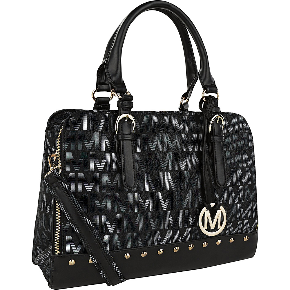 MKF Collection by Mia K. Farrow Fancy Marie M Signature Tote Black - MKF Collection by Mia K. Farrow Manmade Handbags - Handbags, Manmade Handbags
