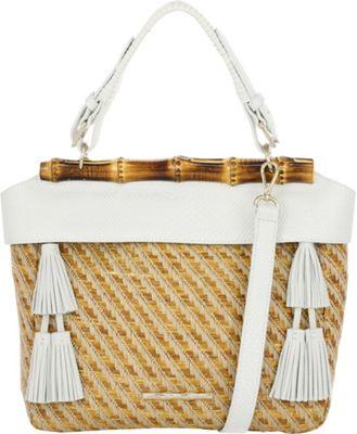 Elaine Turner Seraphina Satchel Hemp Raffia - Elaine Turner Leather Handbags