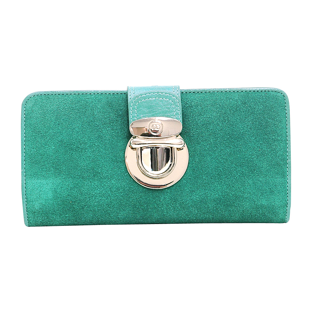 Dasein Womens Bifold Wallet with Light Gold Buckle Light Green - Dasein Womens Wallets - Women's SLG, Women's Wallets