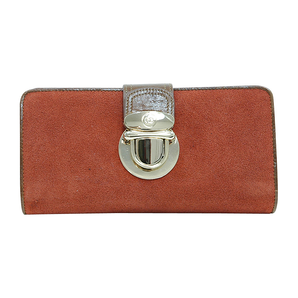 Dasein Womens Bifold Wallet with Light Gold Buckle Brown - Dasein Womens Wallets - Women's SLG, Women's Wallets