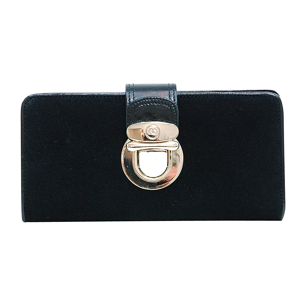 Dasein Womens Bifold Wallet with Light Gold Buckle Black - Dasein Womens Wallets - Women's SLG, Women's Wallets