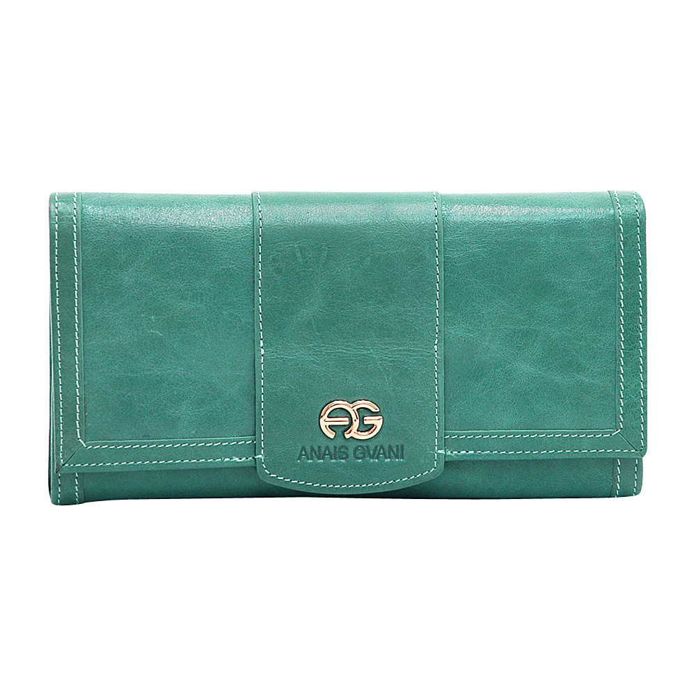 Dasein Womens Classic Trifold Wallet with Gold Logo Accent Sea Green - Dasein Womens Wallets - Women's SLG, Women's Wallets