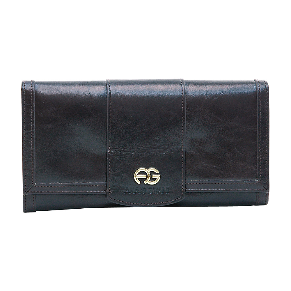 Dasein Womens Classic Trifold Wallet with Gold Logo Accent Deep Brown - Dasein Womens Wallets - Women's SLG, Women's Wallets