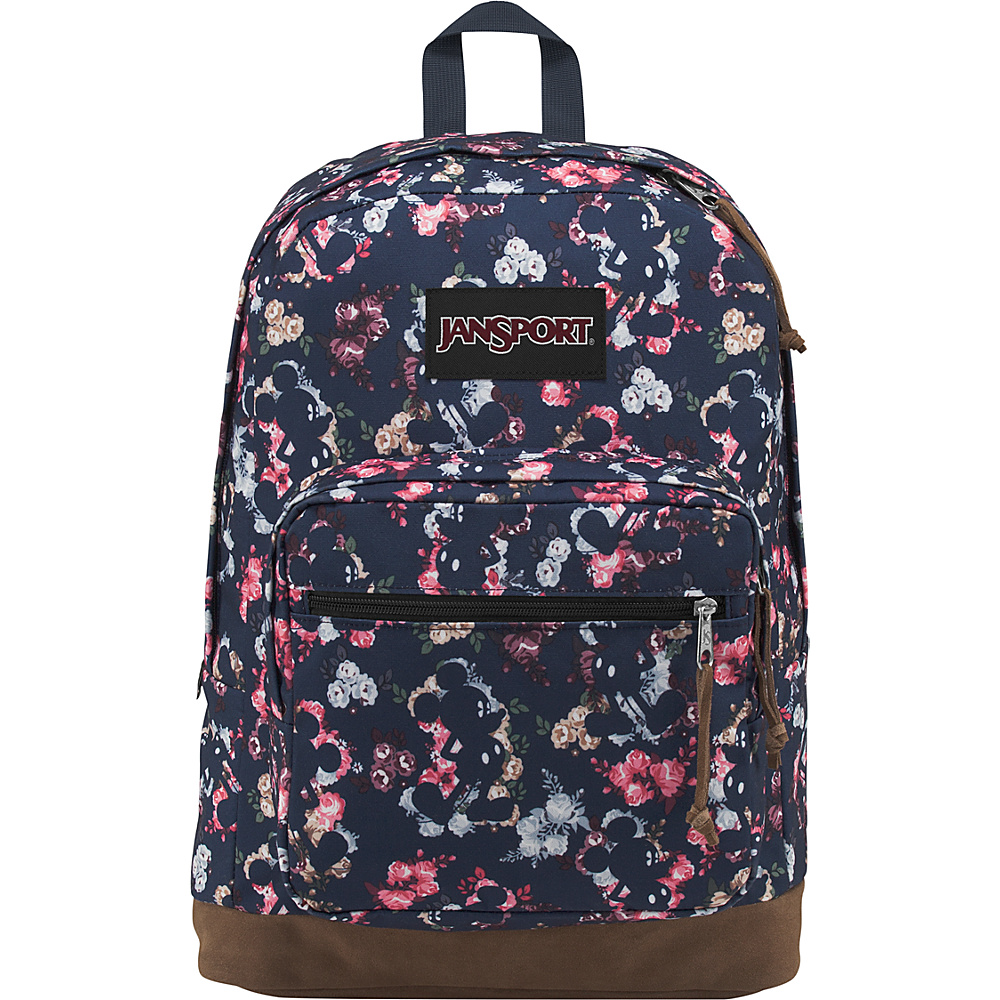 JanSport Disney Right Pack Expressions Laptop Backpack Mickey Floral - JanSport Laptop Backpacks