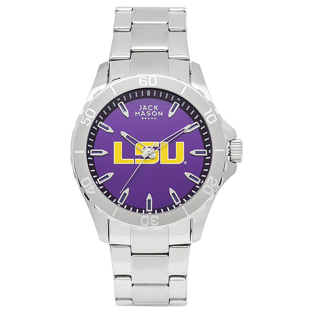 Jack Mason League NCAA Team Color Dial Bracelet Watch LSU Tigers - Jack Mason League Watches - Fashion Accessories, Watches