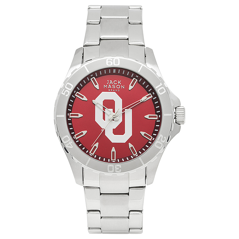 Jack Mason League NCAA Team Color Dial Bracelet Watch Oklahoma Sooners - Jack Mason League Watches - Fashion Accessories, Watches