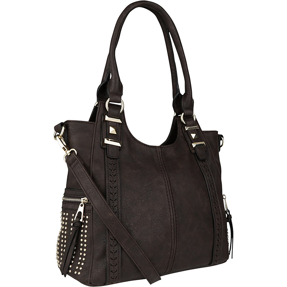 MKF Collection Claire Beaded Tote Coffee - MKF Collection Manmade Handbags - Handbags, Manmade Handbags