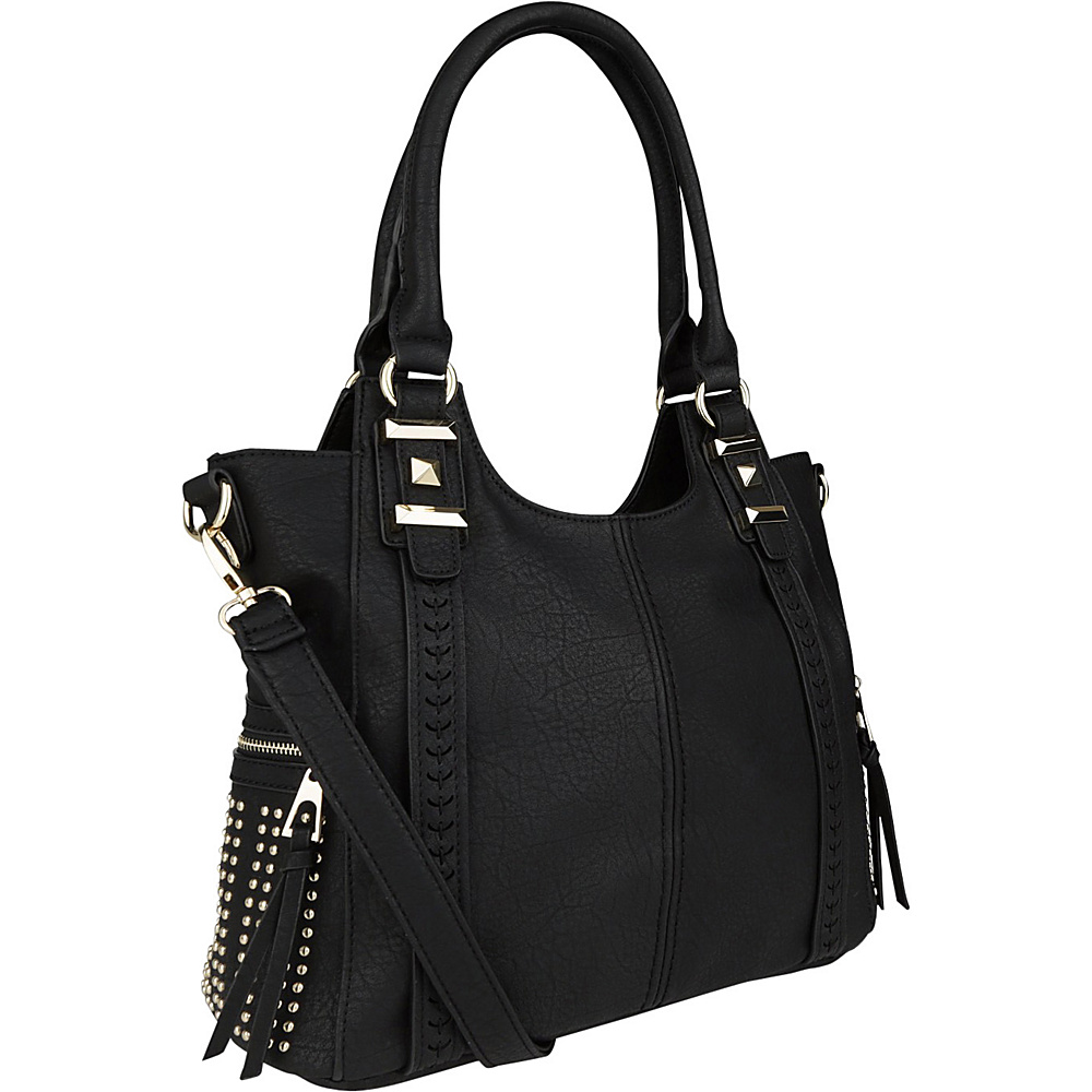 MKF Collection Claire Beaded Tote Black - MKF Collection Manmade Handbags - Handbags, Manmade Handbags