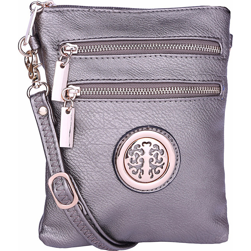 MKF Collection by Mia K. Farrow Arabelle Crossbody Pewter - MKF Collection by Mia K. Farrow Manmade Handbags - Handbags, Manmade Handbags