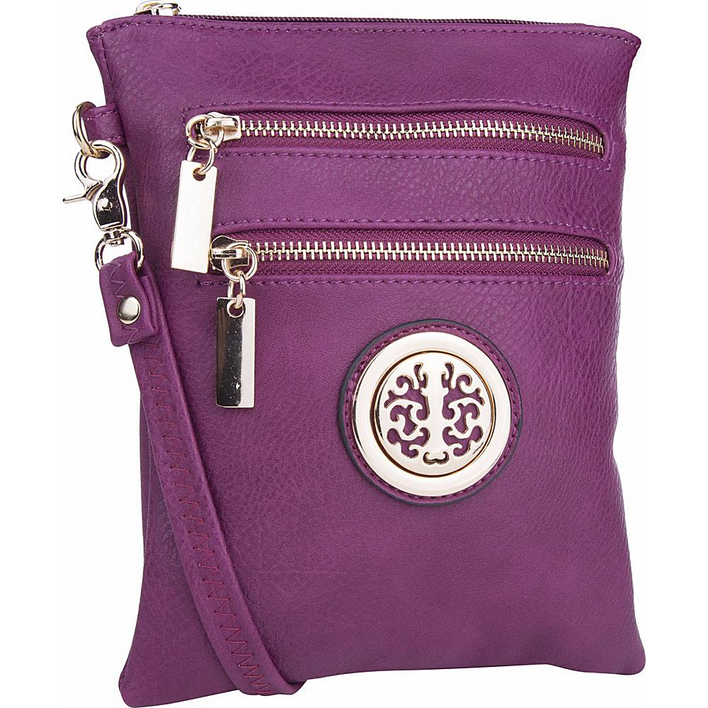 MKF Collection Arabelle Crossbody Purple - MKF Collection Manmade Handbags - Handbags, Manmade Handbags