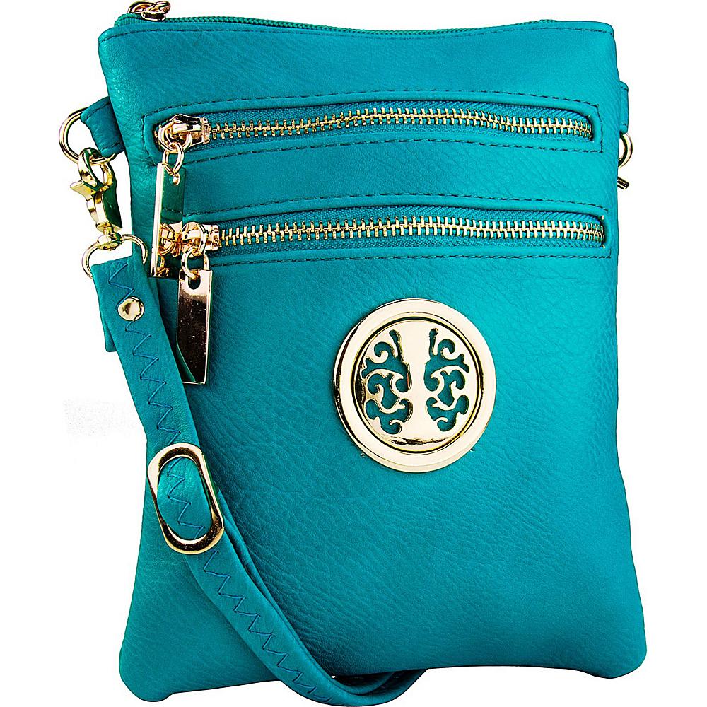 MKF Collection Arabelle Crossbody Turquoise - MKF Collection Manmade Handbags - Handbags, Manmade Handbags