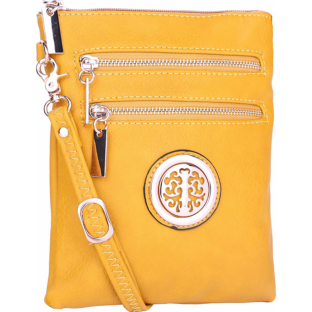 MKF Collection by Mia K. Farrow Arabelle Crossbody Yellow - MKF Collection by Mia K. Farrow Manmade Handbags - Handbags, Manmade Handbags