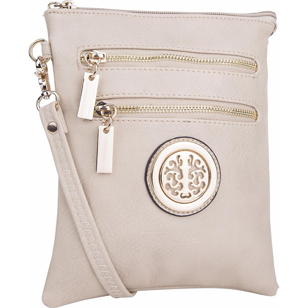 MKF Collection Arabelle Crossbody Beige - MKF Collection Manmade Handbags - Handbags, Manmade Handbags
