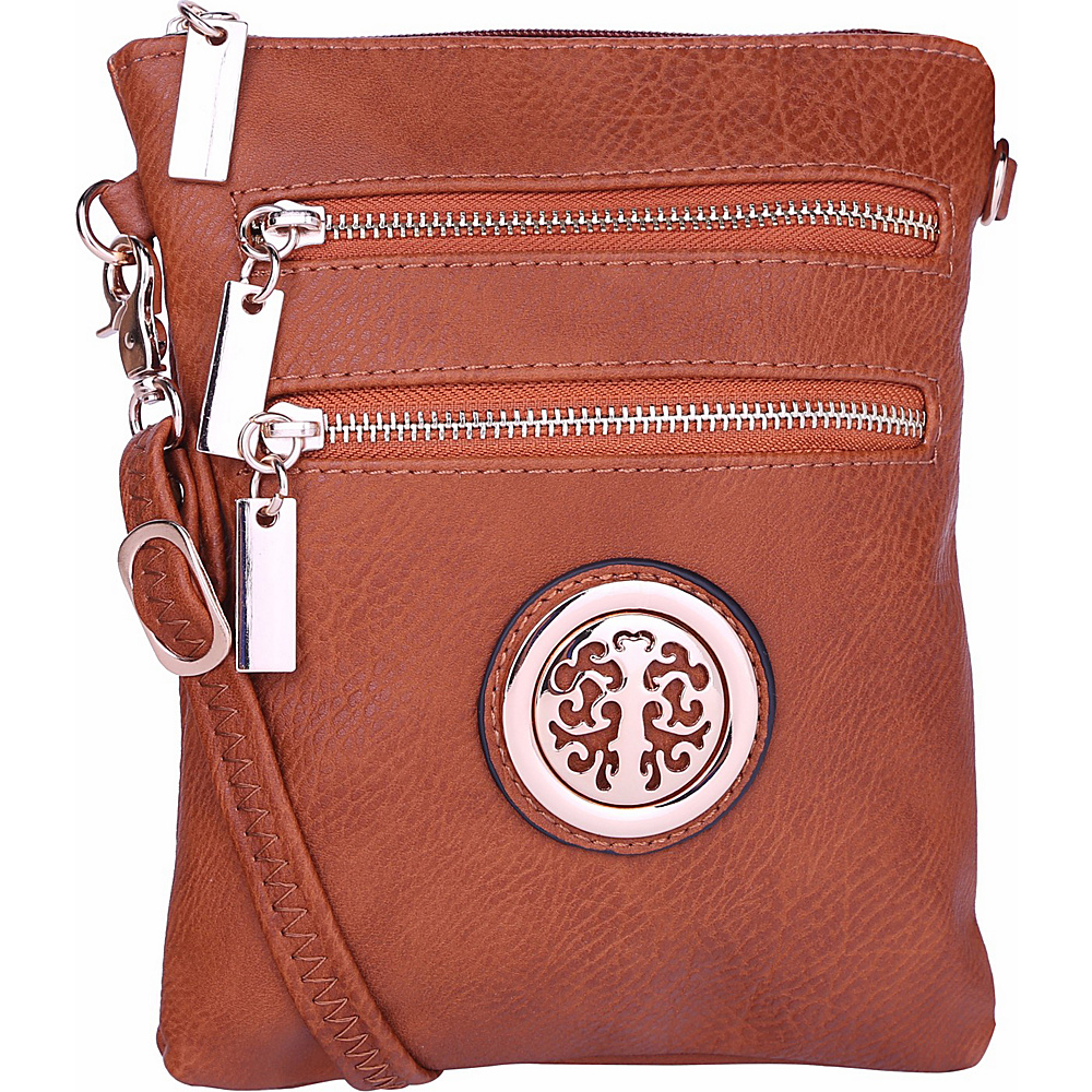 MKF Collection by Mia K. Farrow Arabelle Crossbody Cognac Brown - MKF Collection by Mia K. Farrow Manmade Handbags - Handbags, Manmade Handbags