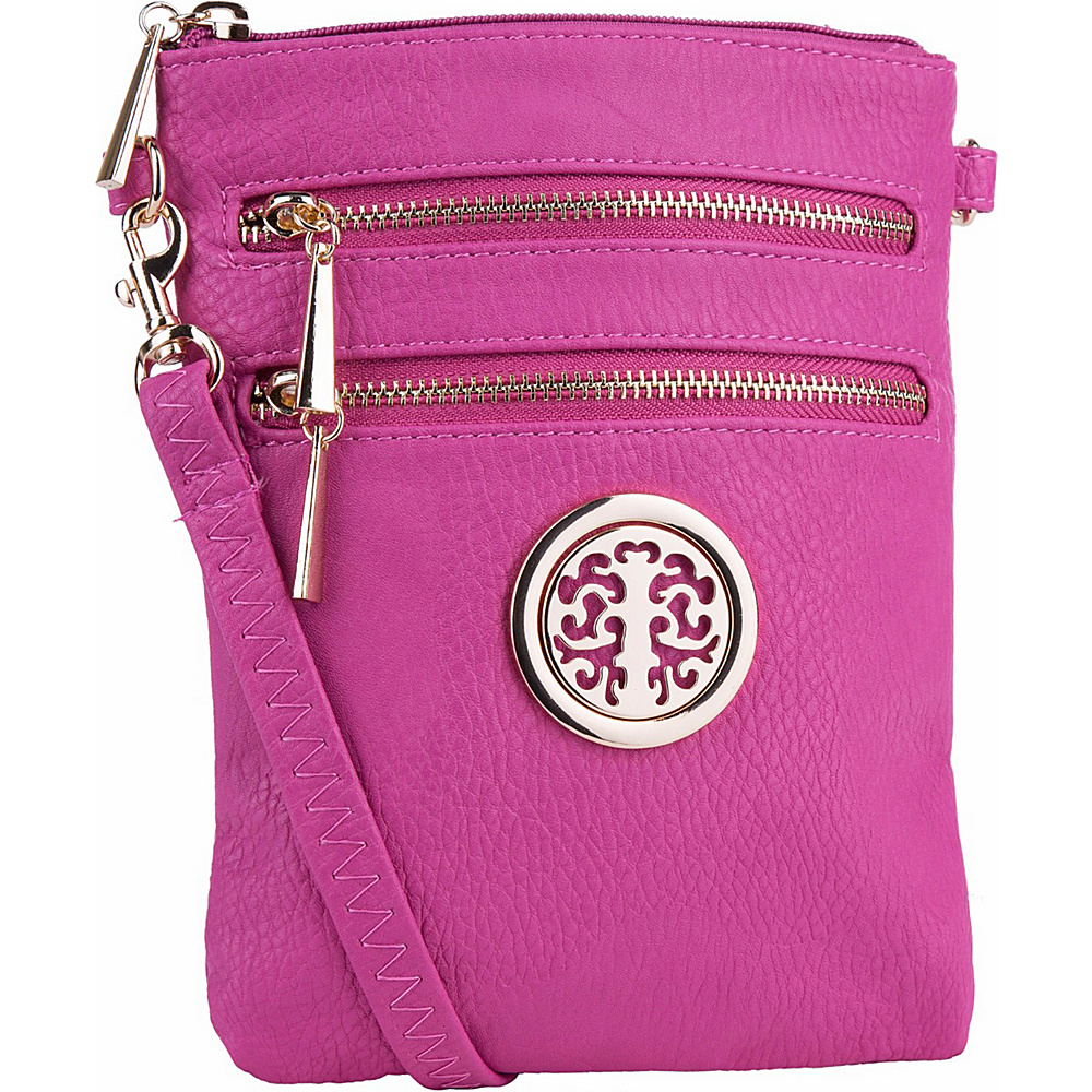 MKF Collection by Mia K. Farrow Arabelle Crossbody Fuchsia - MKF Collection by Mia K. Farrow Manmade Handbags - Handbags, Manmade Handbags