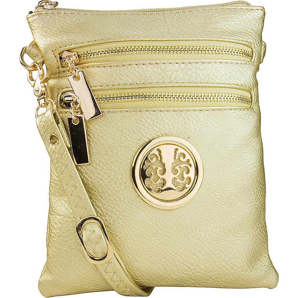 MKF Collection Arabelle Crossbody Gold - MKF Collection Manmade Handbags - Handbags, Manmade Handbags