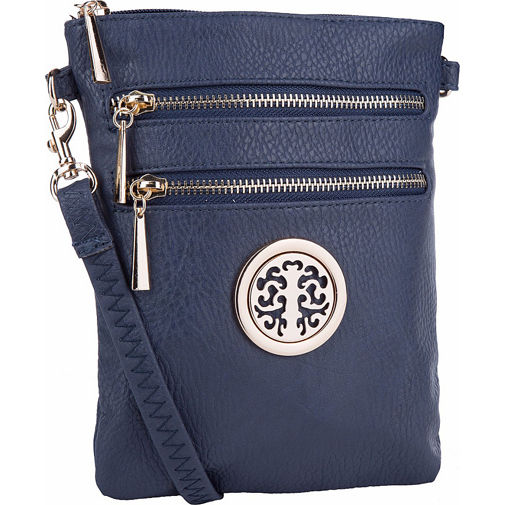MKF Collection by Mia K. Farrow Arabelle Crossbody Navy - MKF Collection by Mia K. Farrow Manmade Handbags - Handbags, Manmade Handbags
