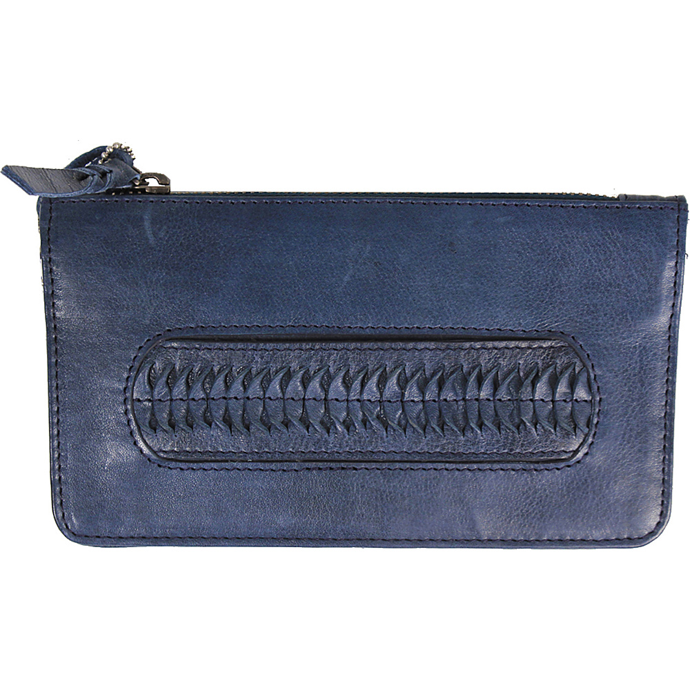 Latico Leathers Tyra Wallet Navy - Latico Leathers Leather Handbags - Handbags, Leather Handbags