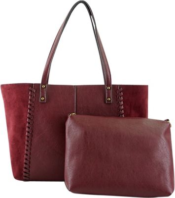 nu G All in One Tote Burgundy - nu G Manmade Handbags