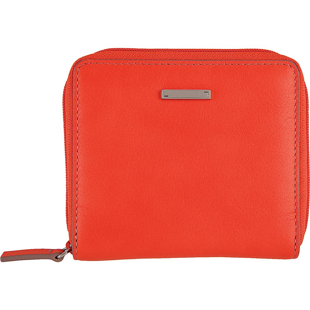 Lodis Mill Valley Under Lock & Key Amaya Zip French Wallet Coral - Lodis Womens Wallets - Women's SLG, Women's Wallets