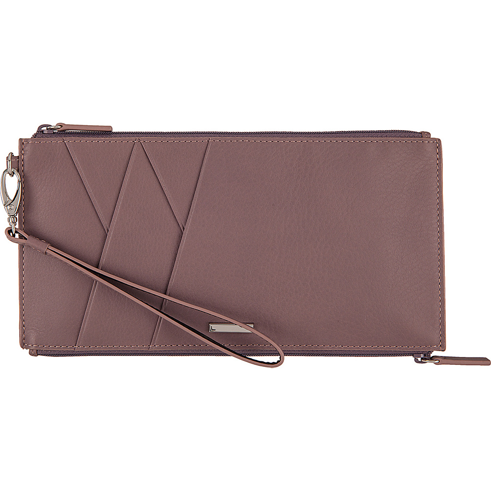 Lodis Mill Valley Under Lock & Key Kai Double Zip Pouch with Wristlet Lilac - Lodis Womens Wallets - Women's SLG, Women's Wallets