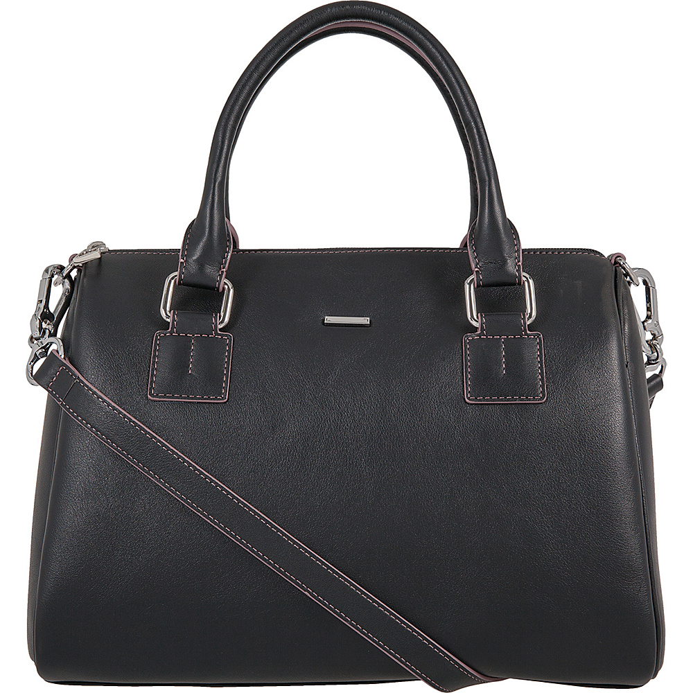 Lodis Mill Valley Under Lock & Key Valda Satchel Black - Lodis Leather Handbags - Handbags, Leather Handbags