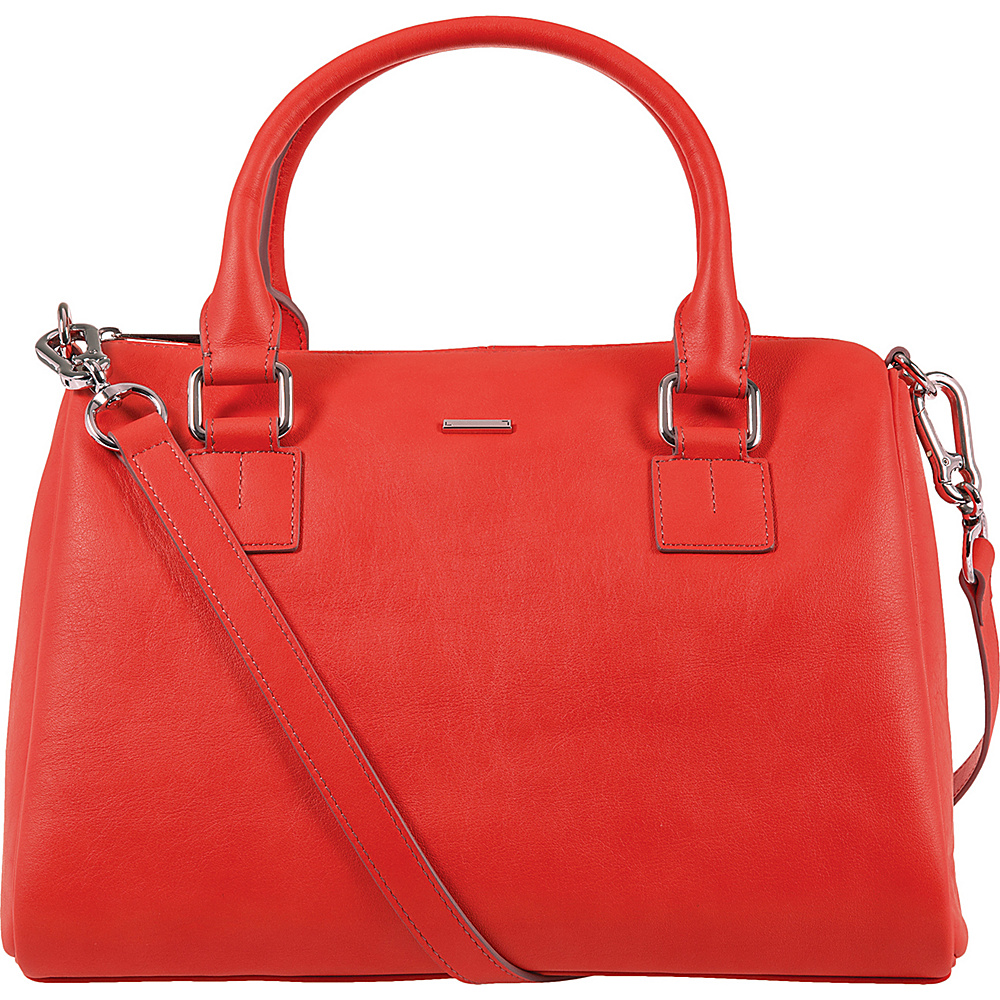 Lodis Mill Valley Under Lock & Key Valda Satchel Coral - Lodis Leather Handbags - Handbags, Leather Handbags