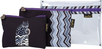 Laurel Burch Polka Dot Gatos Set of 3 Cosmetic Bags Polka...