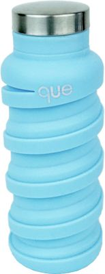 que Bottle Collapsible Silicone Water Bottle  12 oz Iceberg Blue - que Bottle Hydration Packs and Bottles