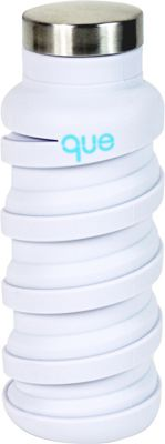 que Bottle que Bottle Collapsible Silicone Water Bottle  12 oz Glacier White - que Bottle Hydration Packs and Bottles