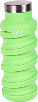 que Bottle Collapsible Silicone Water Bottle  12 oz Key Lime Green - que Bottle Hydration Packs and Bottles