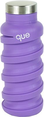 que Bottle Collapsible Silicone Water Bottle  12 oz Violet Purple - que Bottle Hydration Packs and Bottles