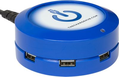 ChargeHub X5 - 5-Port USB SuperCharger - Round Blue - ChargeHub Portable Batteries & Chargers