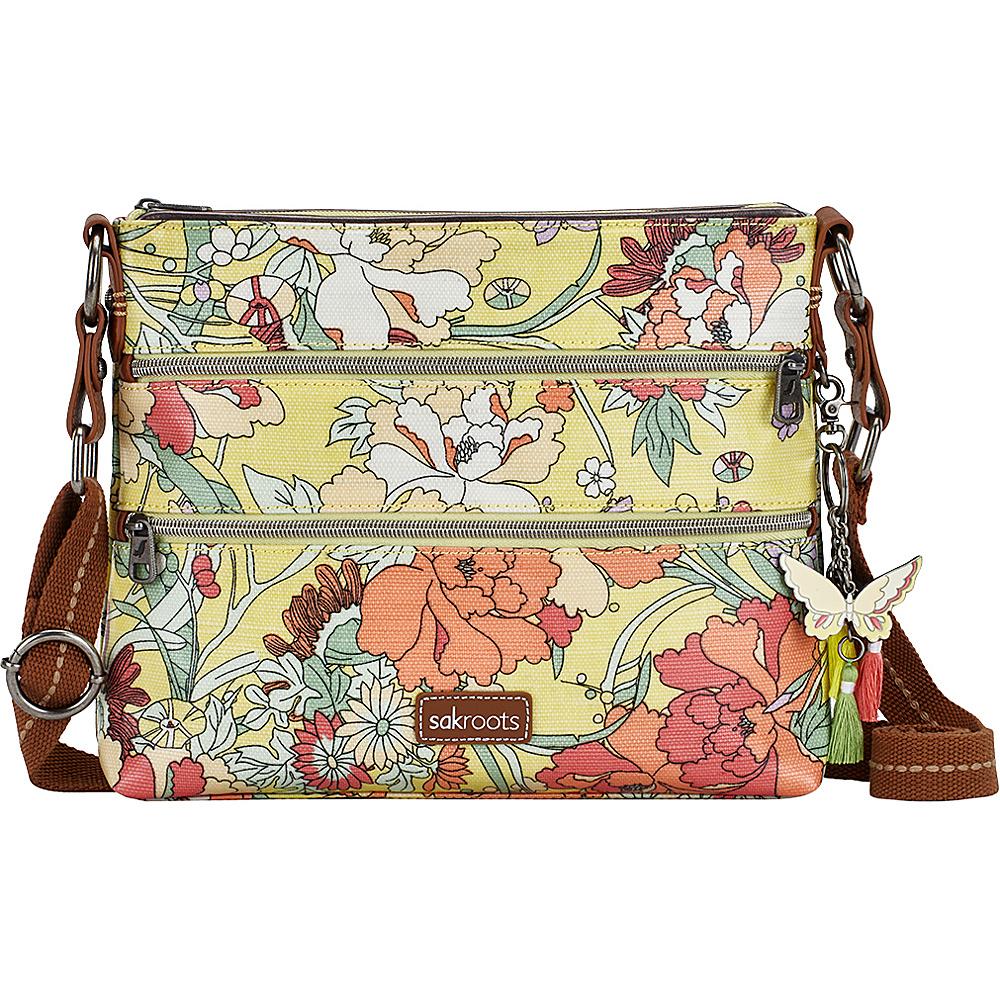 Sakroots Artist Circle Basic Crossbody- Seasonal Colors Sunlight Flower Power - Sakroots Fabric Handbags - Handbags, Fabric Handbags