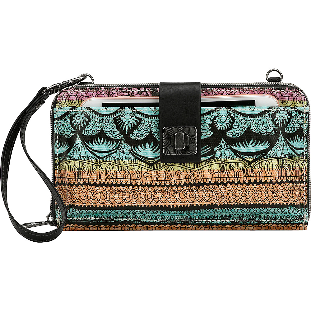 Sakroots Artist Circle Large Smartphone Crossbody- Seasonal Colors Sherbet One World - Sakroots Fabric Handbags - Handbags, Fabric Handbags